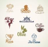 Alimento e bebidas ilustração royalty free