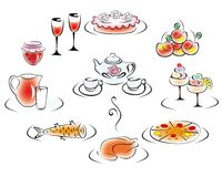 Alimento e bevanda deliziosi Immagini Stock Libere da Diritti