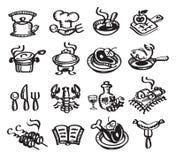 Alimento e bevande. Illustrazione di vettore Immagini Stock Libere da Diritti