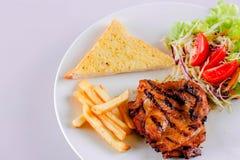 Alimento e bistecca Fotografia Stock