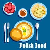 Alimento e dessert polacchi tradizionali di cucina Fotografie Stock Libere da Diritti
