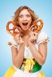 Alimento e divertimento Immagine Stock