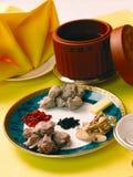Alimento e minestra cinesi fotografia stock libera da diritti