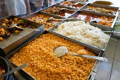 Alimento e minestra turchi tradizionali Immagini Stock