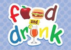 Alimento e tipo da bebida Fotos de Stock