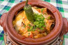 Alimento e vaso tradizionali bulgari Immagine Stock Libera da Diritti