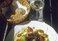 Alimento e vinho Imagens de Stock Royalty Free