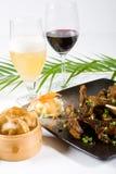 Alimento e vinho chineses imagem de stock royalty free