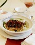 Alimento e vino cinesi immagini stock