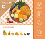 Alimento e vitaminas ilustração do vetor