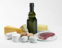 Alimento ed olio fotografie stock libere da diritti