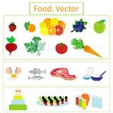 Alimento elementi Fotografia Stock Libera da Diritti