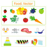 Alimento elementos Fotografia de Stock Royalty Free