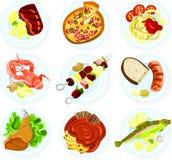 Alimento em uma placa Imagens de Stock
