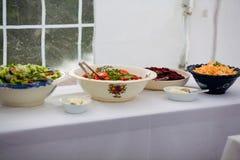 Alimento em uma tabela Foto de Stock Royalty Free