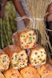 Alimento en el mercado de calle tradicional Foto de archivo libre de regalías