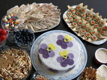 Alimento en placas Fotografía de archivo libre de regalías