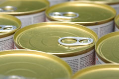 Alimento enlatado Imagens de Stock