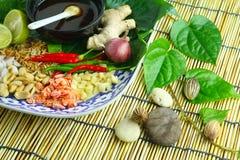 Alimento envolvido nas folhas Imagem de Stock Royalty Free