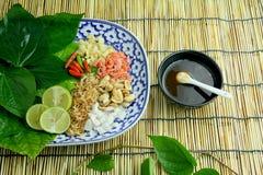 Alimento envolvido nas folhas Fotografia de Stock