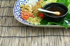 Alimento envolvido nas folhas Imagem de Stock