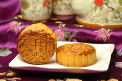 Alimento famoso del cinese--Torta di luna Fotografia Stock Libera da Diritti