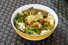 Alimento famoso tailandese, som di Kaeng o minestra acida tailandese fatti di tamarindo p Fotografie Stock