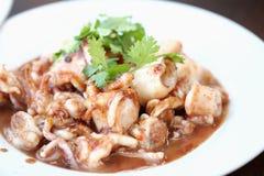 Alimento feito do calamar Imagens de Stock