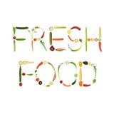 Alimento fresco ilustração stock