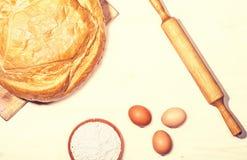 Alimento fresco del pane per la prima colazione Fotografia Stock Libera da Diritti