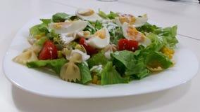 Alimento fresco del salat dell'uovo Fotografie Stock