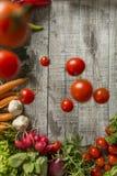 Alimento fresco na tabela Foto de Stock Royalty Free