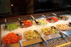 Alimento fresco vegetal do restaurante Imagem de Stock