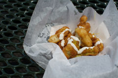Alimento frito Fotos de archivo