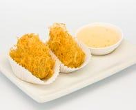 Alimento frito en el restaurante de Dim Sum Fotografía de archivo
