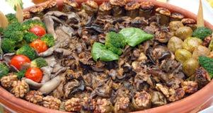 Alimento gastronomico con i wallnuts Immagine Stock