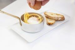 Alimento gastronomico e concetto di haute cuisine fotografia stock