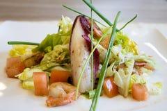 Alimento gastronomico, insalata dei frutti di mare Fotografie Stock