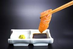 Alimento giapponese con il menu dei frutti di mare Fotografie Stock Libere da Diritti