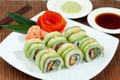 Alimento giapponese dei sushi Fotografia Stock