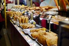 Alimento giapponese della via Immagine Stock