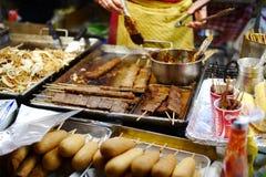 Alimento giapponese della via Fotografia Stock Libera da Diritti
