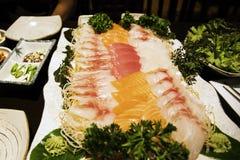 Alimento giapponese, Sushimi Fotografie Stock Libere da Diritti