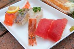 Alimento giapponese, susi, anguilla arrostita su riso Fotografia Stock