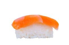 Alimento giapponese tradizionale dei sushi su fondo bianco con clippin Fotografia Stock Libera da Diritti