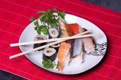 Alimento giapponese tradizionale - sushi Immagine Stock Libera da Diritti