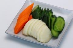 Alimento giapponese, Tsukemono, verdure marinate giapponesi Immagini Stock Libere da Diritti
