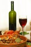 Alimento greco del pollo Fotografie Stock Libere da Diritti