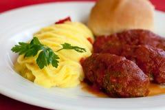 Alimento greco, smyrneika di soutzoukakia Fotografie Stock Libere da Diritti