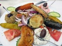 Alimento grego do meze fotografia de stock